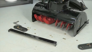 How to replace a snowblower shave plate video.