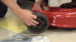 How to change a lawn mower wheel video