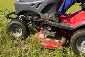 Storing your lawn tractor for winter.