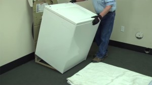 PHOTO: Reinstall the washer cabinet.