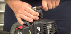 How to tune up a grass line trimmer video