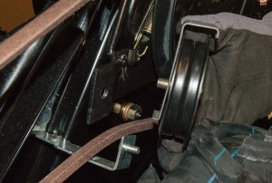 Remove the belt idler pulley.