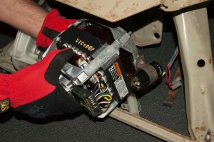 Push the drive motor into place.