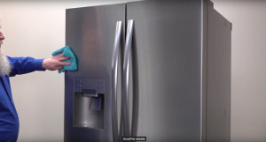 How to clean stainless steel appliances.