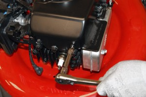 PHOTO: Remove the blower housing.