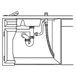 Clean the dishwasher drain path