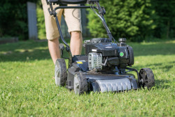 How to fix a pull cord stuck after tipping mower