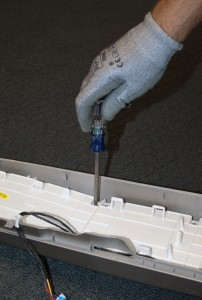 Remove the screws that hold the user interface board.