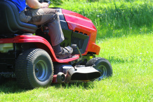 Riding lawn mower won't turn over or click.