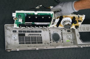 Remove the user interface board from the washer.