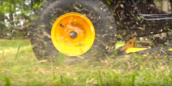 How to keep grass clippings from sticking to a mower deck.