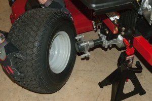Reinstall the rear wheels.