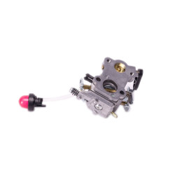 Replace the grass line trimmer carburetor
