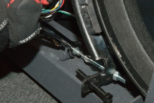 PHOTO: Unscrew the cable lock nut.