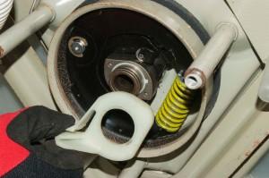 PHOTO: Remove the brake cam.