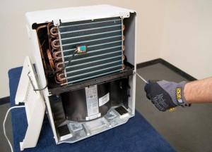 How a dehumidifier works.