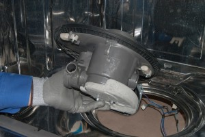 PHOTO: Pull out the circulation pump assembly.