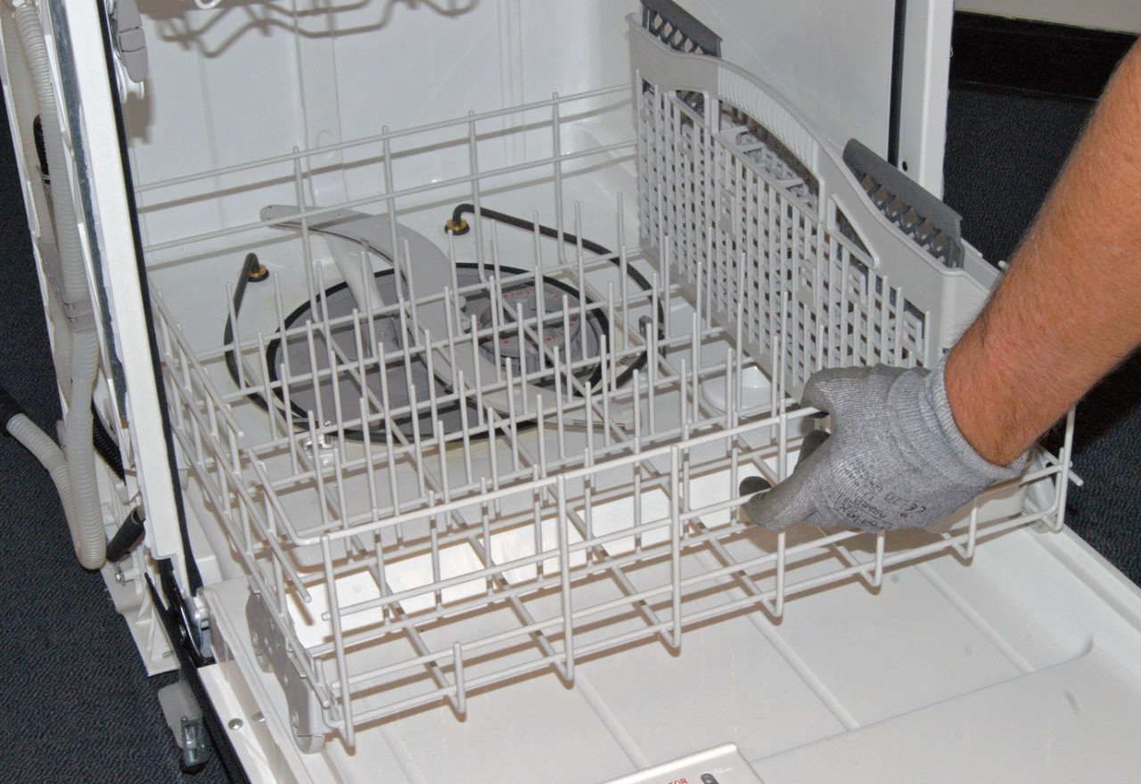 How to replace a dishwasher lower spray arm | Repair guide