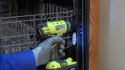 How to anchor a dishwasher to the floor video