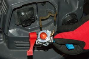 PHOTO: Remove the carburetor.