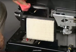 How to clean the air filter in your lawn tractor.