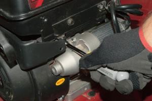 Reinstall the starter motor.