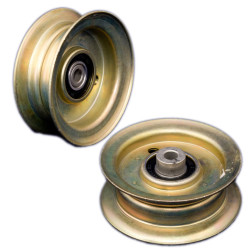 Replace the riding mower deck idler pulley