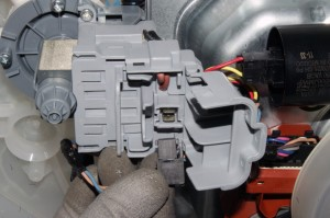 Disconnect the wire harness from the drain pump.