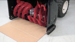 How to replace snowblower skid shoes video