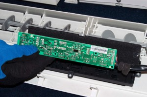 Install the new user interface control board,
