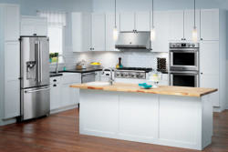 Where to find the model number on a kitchen or laundry appliance