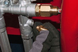 Install the new chemical injection valve.