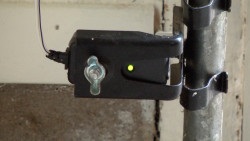 Garage door won't close/safety sensor troubleshooting video—lights blink 10 times