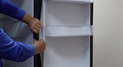 How to replace a foamed-in-place door gasket in a side-by-side refrigerator