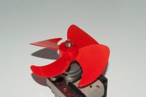 PHOTO: Install the fan blade on the new evaporator fan motor.