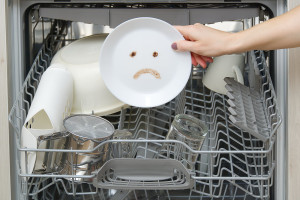 Dishwasher not cleaning the dishes.