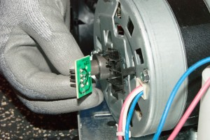 PHOTO: Install the new RPM sensor.