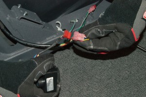 Disconnect the motor harness connector.