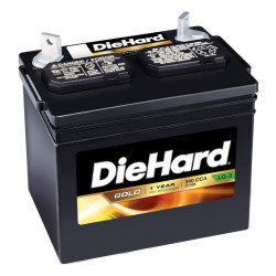 Replace the riding mower battery