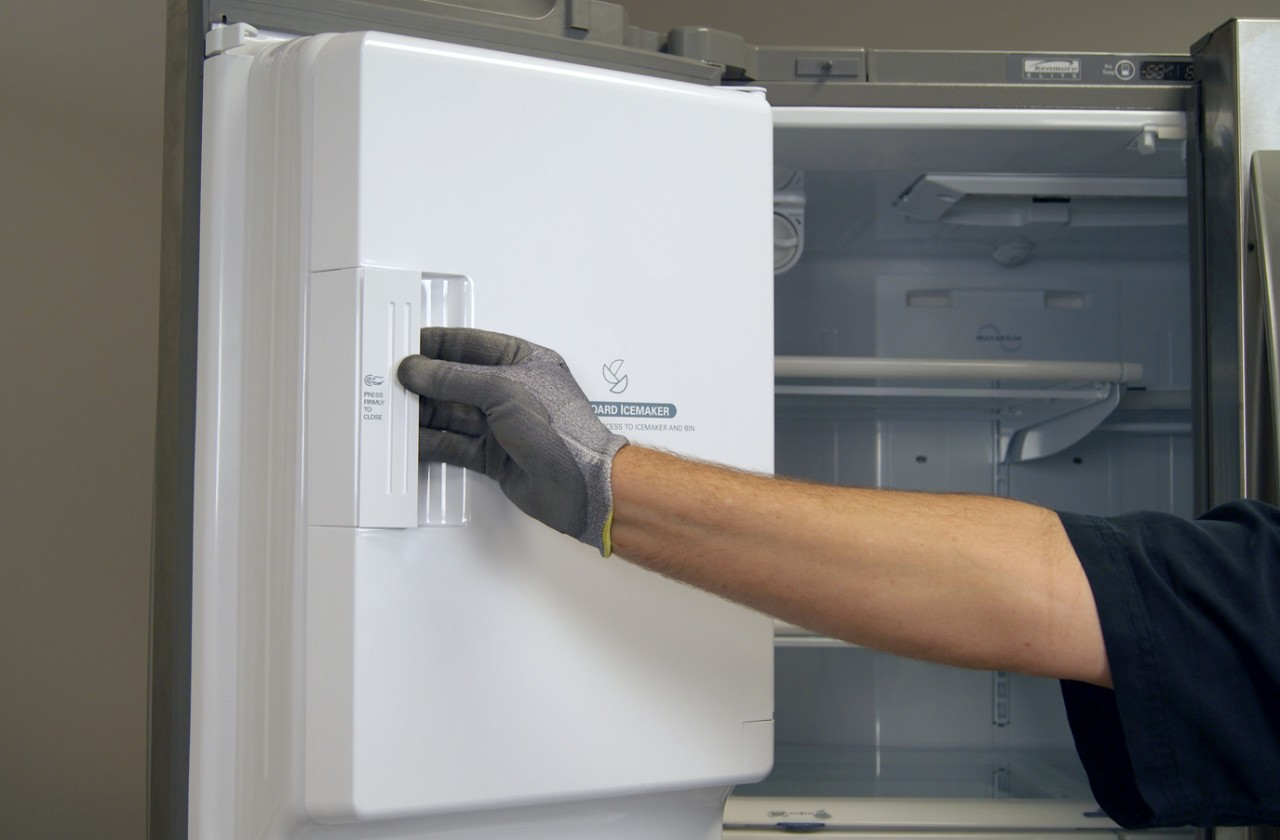 How to replace an in-door ice maker on a French door