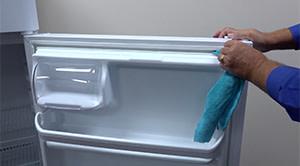 PHOTO: Clean the door gasket groove.
