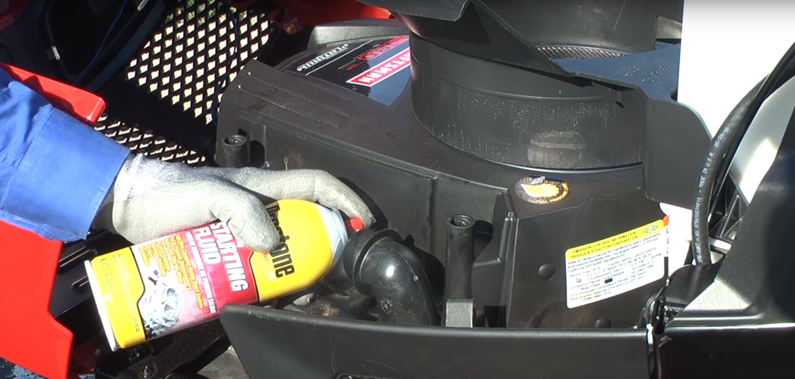 Riding lawn mower engine won't turn over or click video