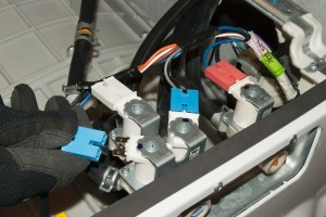 Reconnect the wires to the inlet valve.
