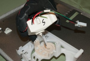 PHOTO: Install the new fan motor.