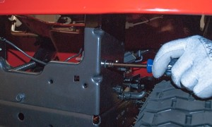 Remove the mounting bolt.
