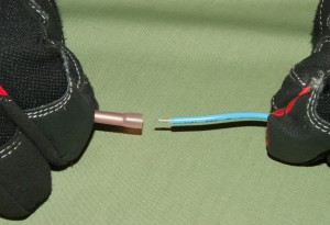PHOTO: Connect the bi-metal thermostat wires.
