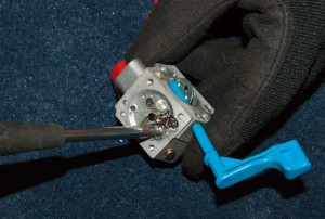 PHOTO: Install the needle and lever.