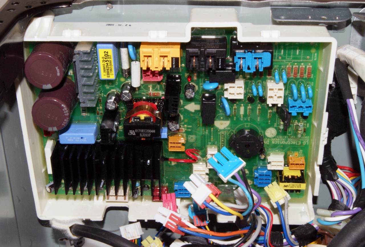 How to replace the machine control board in a front-load washer