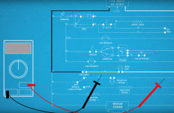 Using a wiring schematic to trace a current video