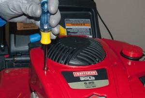 Remove the blower housing screws.